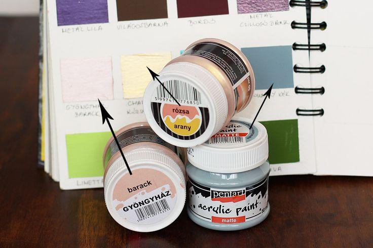 Tárolási ötletek 2. rész – A színek | Scrapfellow #beedee #beedeescrap #DIY #tutorial #scrapfellow