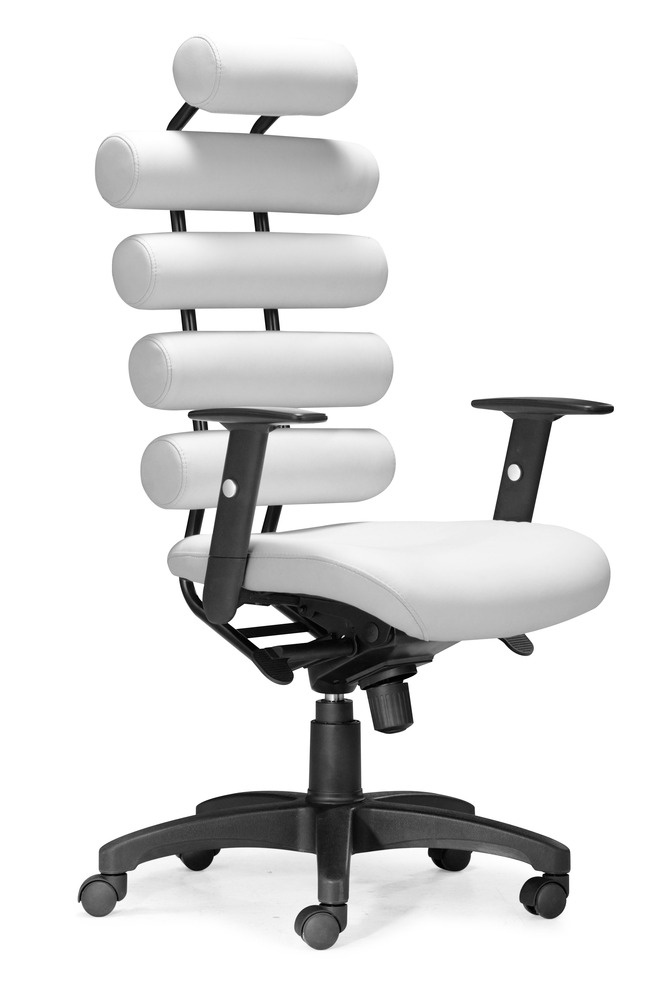 unico office chair white zuo modern