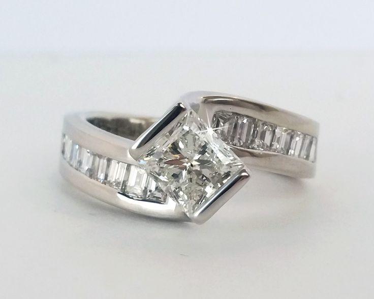Trending Modern Twist Custom Engagement Ring