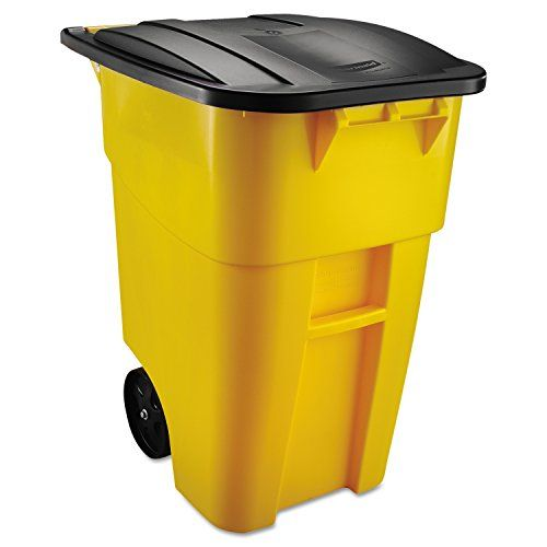 The #Rubbermaid Commercial BRUTE Recycler Rollout Trash Can with Hinged Lid is the industry leader in waste and material handling applications. These seamless re...
