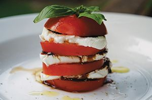 Caprese Salad. Overhaul the traditional way to serve caprese salad and create delightful mini towers to add an element of surprise to this simple antipasto.