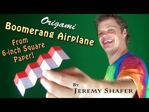 origami boomerang airplane from 6inch kami youtube ���