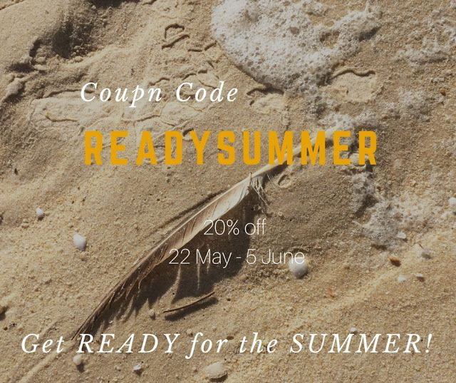 Carla Amaro:  Get READY for the SUMMER! Today begins the summer campaign. Until June 5 you can enjoy a 20% discount on the total value of your purchases >>> Coupon Code: READYSUMMER