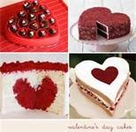 Cakes with hearts