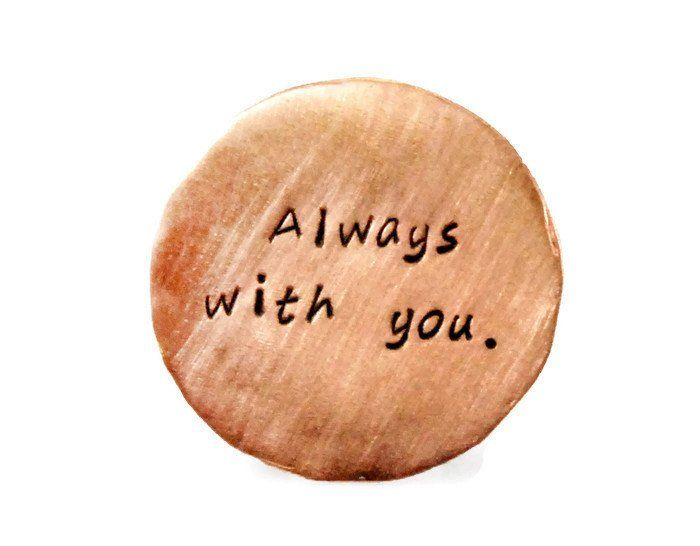 Always With You. Personalized Copper Golf Marker.
