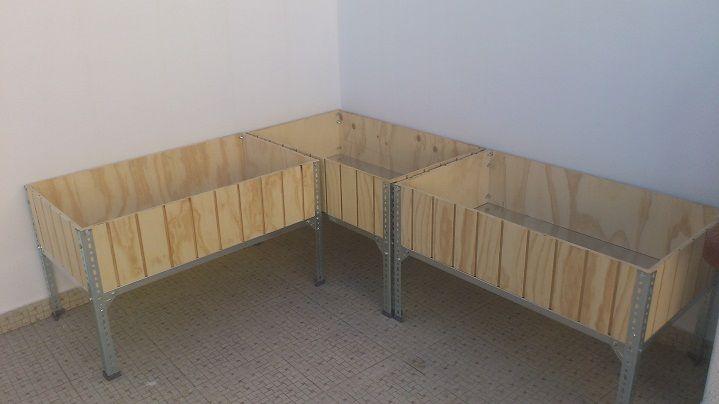 Mesas de cultivo caseras