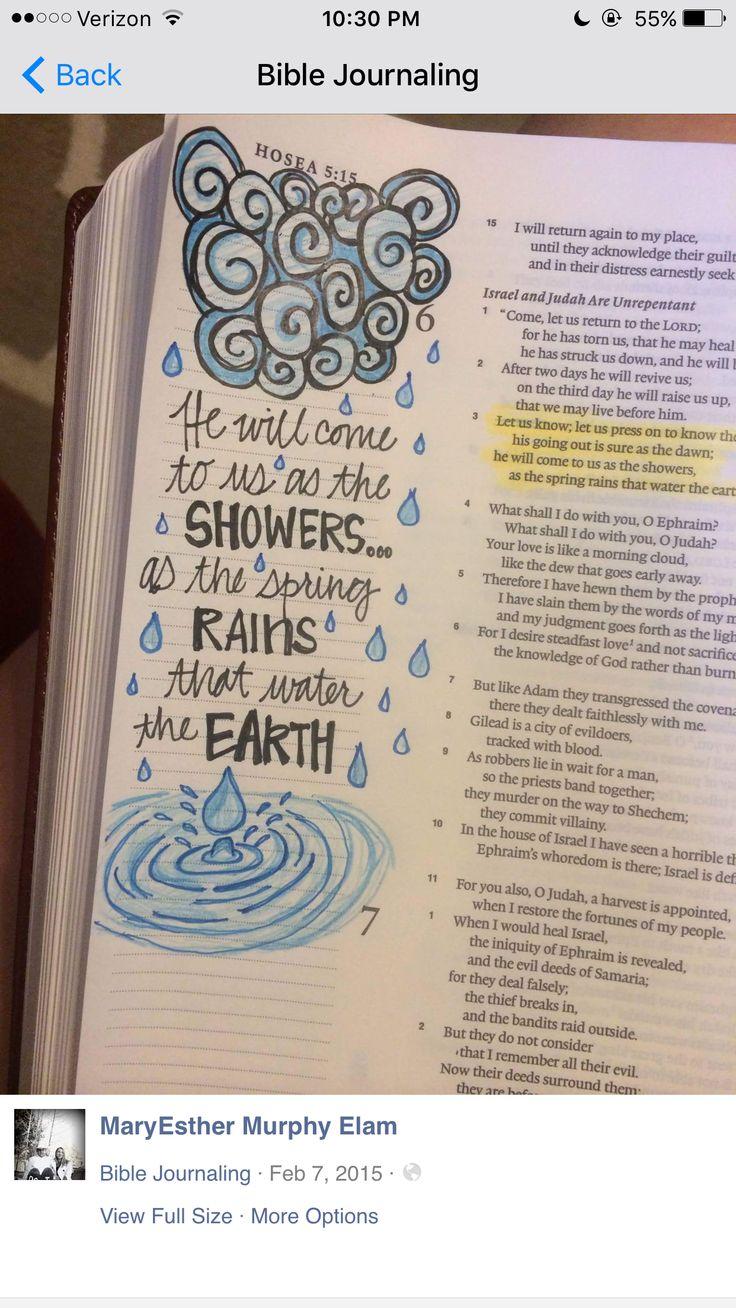 Bible Journaling Bible Journaling Pinterest Rain And