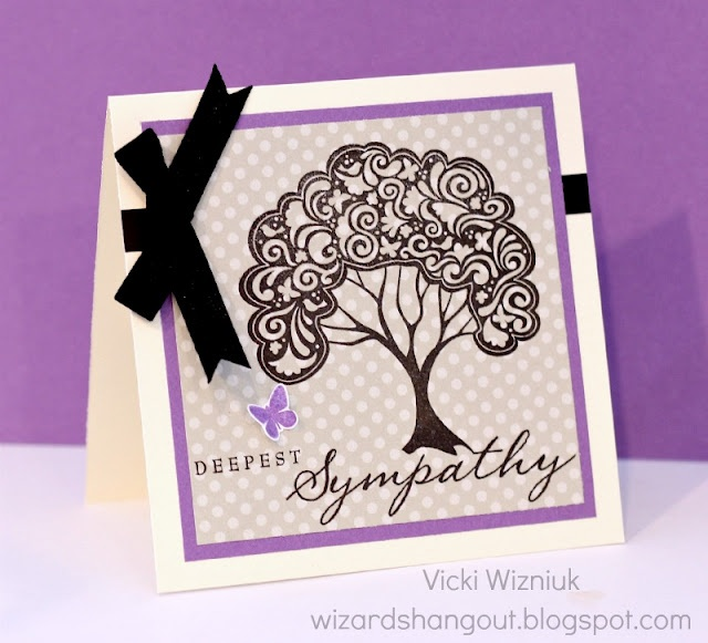CTMH Sympathy card with Close To My Heart products.  by Vicki Wizniuk, CTMH Independent Consultant