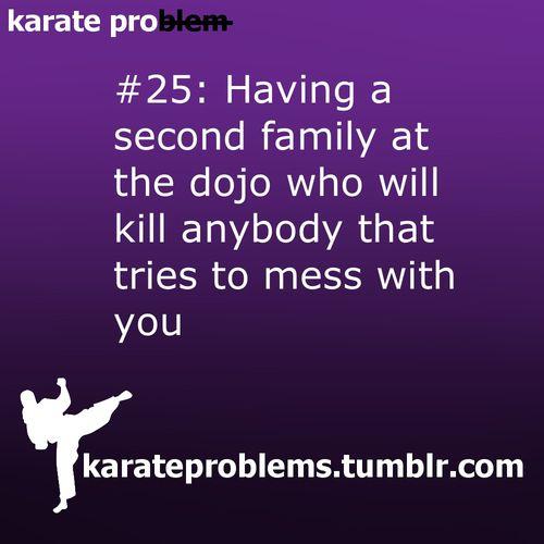 i love my family at taekwondo (:
