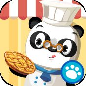 Dr. Panda's Restaurant In this app, kids will be introduced to cooking through fun and exciting mini-games. They will be exposed to a wide range of foods as Dr. Panda has a recipe book which contains 10 different dishes and drinks.  Slicing, frying, toasting, mixing and baking. Besides preparing and serving food, they will also have fun while feeding the animals, decorating the dining rooms, cleaning the tables, and recycling garbage. 76MB