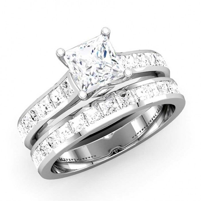 Beautiful Princess Cut Diamond Engagement Rings