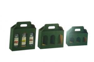 Confezione Risparmio da 50 Scatole Portavasetti Verde 3 Finestre