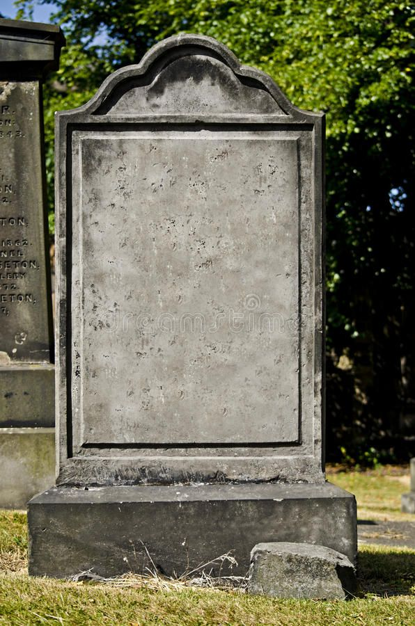 Headstone Blank Headstone In A Cemetery Sponsored Blank Headstone Cemetery Headstone Ad Headstones Create A Family Tree Stock Images Free
