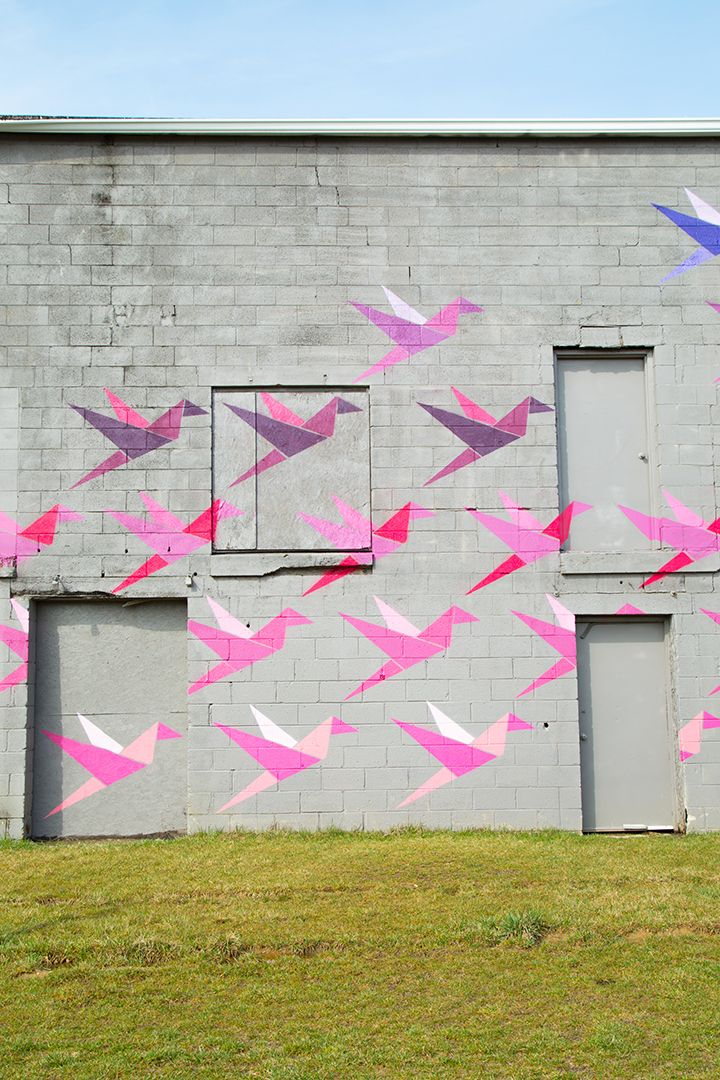 15 Favorite Outdoor Murals In Indianapolis Alice And Lois Garden Mural Outdoor Wall Paint Outdoor Wall Art