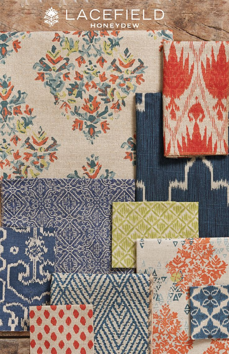 Lacefield Honeydew 2015 Textile Collection www.lacefielddesigns.com love these colors and the patterns.
