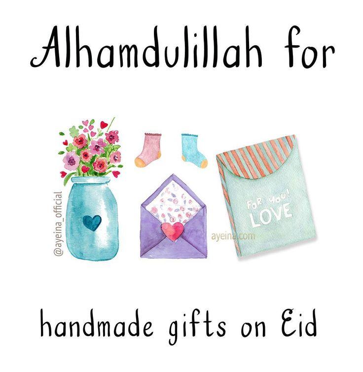 Alhamdulillah for handmade gifts on eid. #AlhamdulillahForSeries
