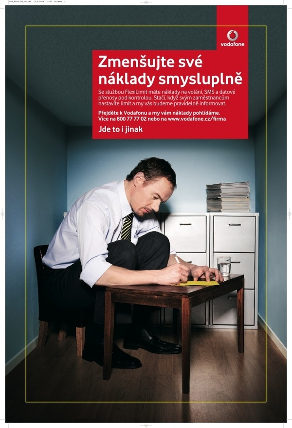 Print - cut costs campaign for Vodafone by Jan Houdek, via Behance