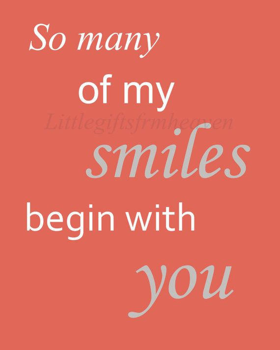 So many of my smiles quote- digital file, so many smiles, begin with you, nursery wall art, coral baby room, DIY nursery wall art, printable on Wanelo