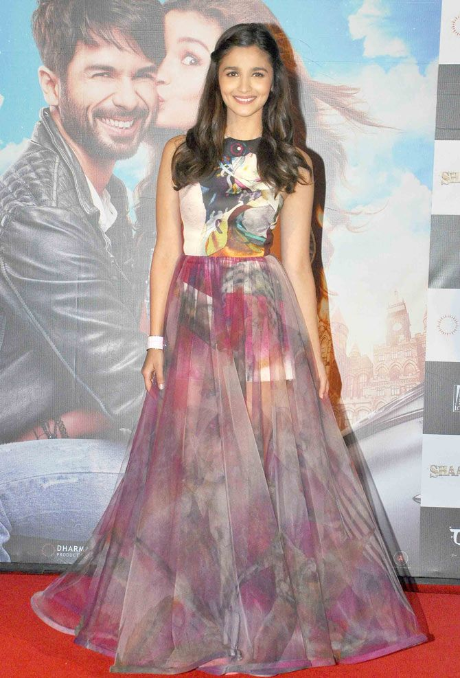 Alia Bhatt at the trailer launch of 'Shaandaar'.