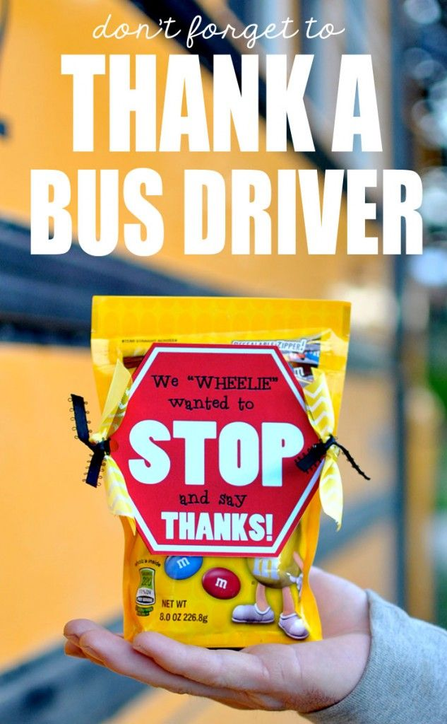 This is the perfect idea for a bus driver gift! #happythoughts #busdriver