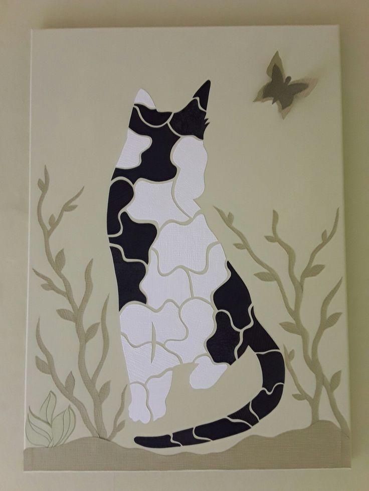 Katzen aus Tapete-Resten