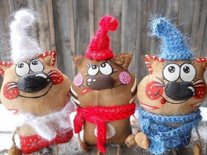 Друзья - кот,улыбка,позитив,ручная работа,ароматизированная игрушка,Тонированная бязь