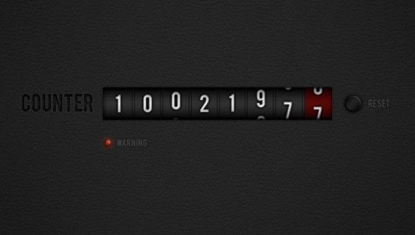 Dark Number Counter with Reset Button PSD - http://www.welovesolo.com/dark-number-counter-with-reset-button-psd/
