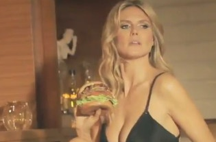 VIDEO – Heidi Klum Stars In New Sexy Carl's Jr Burger Ad