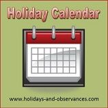 A site listing all Monthly Holidays and Observances