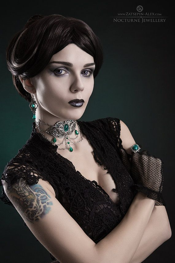 Hey, I found this really awesome Etsy listing at https://www.etsy.com/listing/218172583/gothic-metal-choker-silver-filigree
