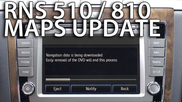 How to update maps in #RNS510  #RNS810 #Volkswagen #Skoda #Seat GPS