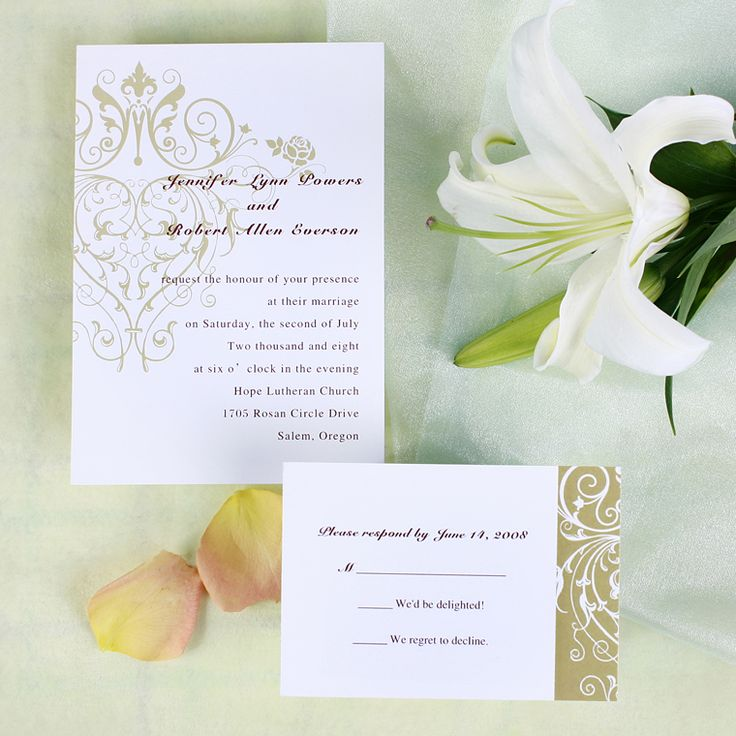 inexpensive wedding invitations with response cards%0A I rather like this one and how clean it feels  vintage chandelier pattern inexpensive  wedding invitations online