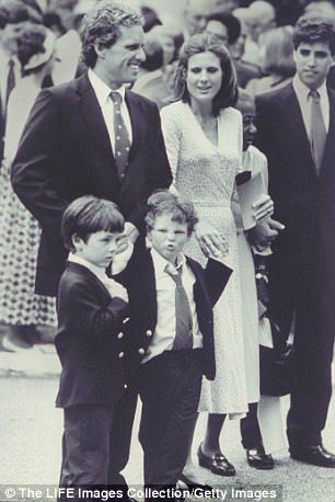 Joe and his twin brother Matt are the only children of his father, Joseph Kennedy II and his ex-wife Sheila Rauch (above together in 1990)