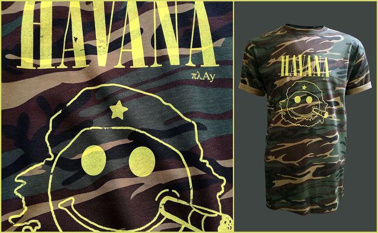 Havana Camo T-shirt #fashion #style #gifts #nirvana #kurtcobain #cobain #rockfashion #camo #tshirt #men #mensfashion #menswear #mensclothing #havana #cuba #tee #sarcastic #sarcasm #streetart
