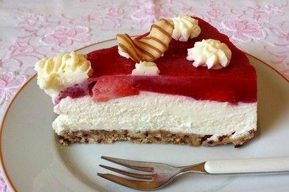 Erdbeer-Frischkäse-Torte (Rezept mit Bild) von chey2000 | Chefkoch.de