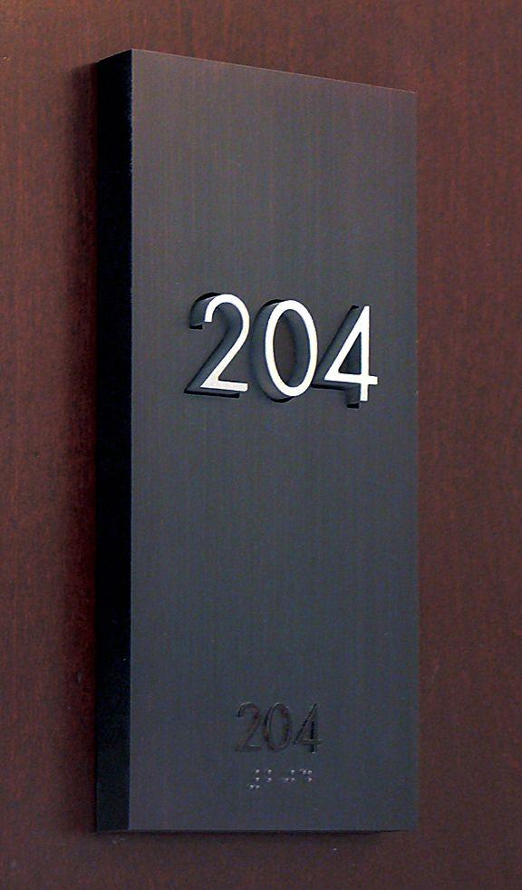 The Montana Residence, Signage hotel room number by Gatemark Design _