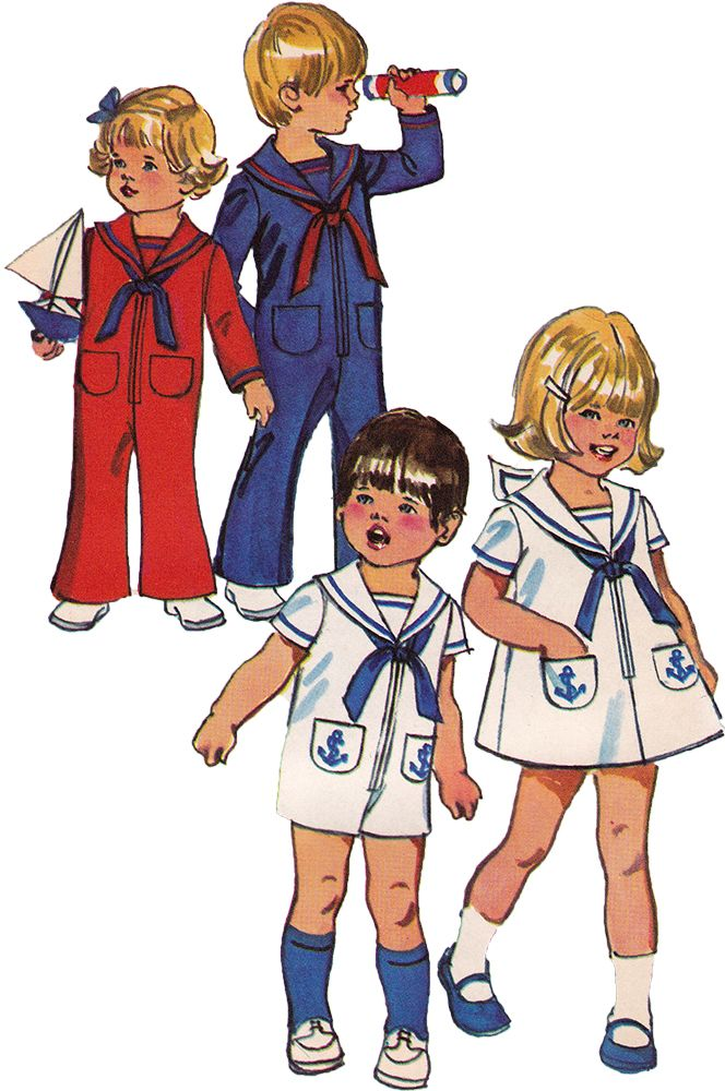 1970s Vintage Sewing Pattern: Toddler Sailor Suit. Simplicity 9947
