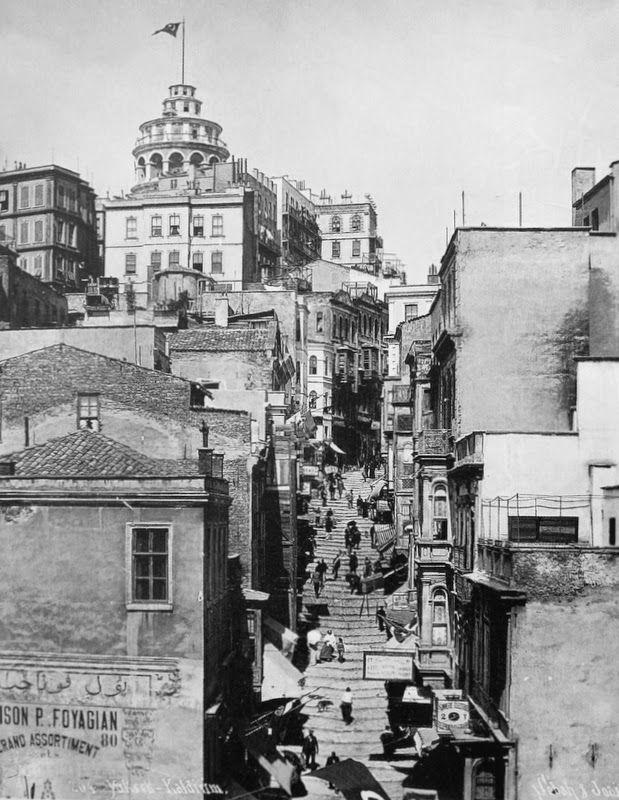 Sebah & Joaillier, Yüksek kaldırım caddesi Karaköy.