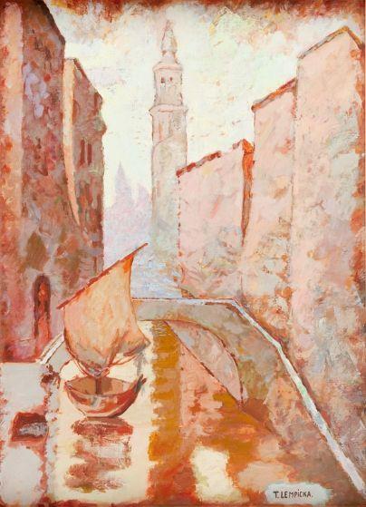 Tamara Łempicka - Wenecja w deszczu, ok. 1961 r.