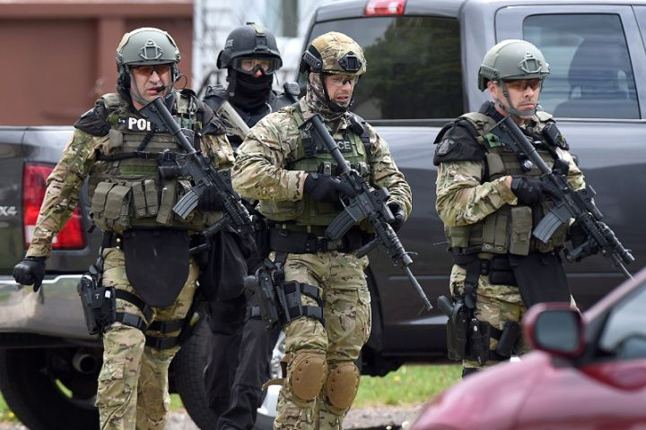 IN PHOTOS: Moncton shooting leads to massive manhunt