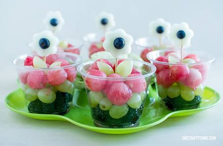#FruitsAndVeggiesMoreMatters ........ We LOVE #flowers! Especially the kind you can eat  #healthy #fruitart .... http://onecraftything.com/watermelon-flowers-all-over-the-place/