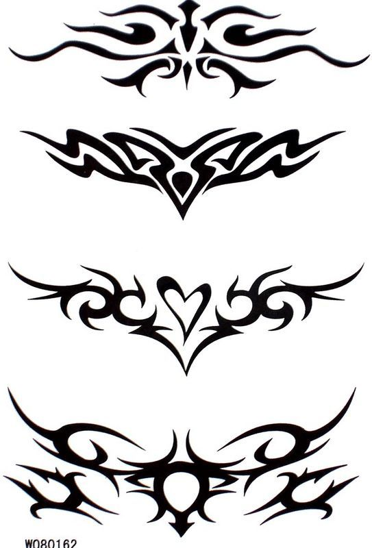 Waterproof black totem temporary tattoos [W080162] - $3.54 - GGSell.com, Sell your fashion