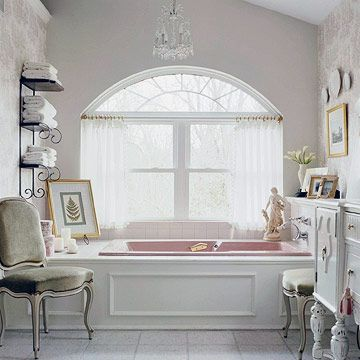 Window Treatment Ideas for an Arched Window - image Better Home and Gardens