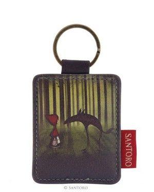 Santoro London - Klíčenka obdélníková - Red Riding Hood