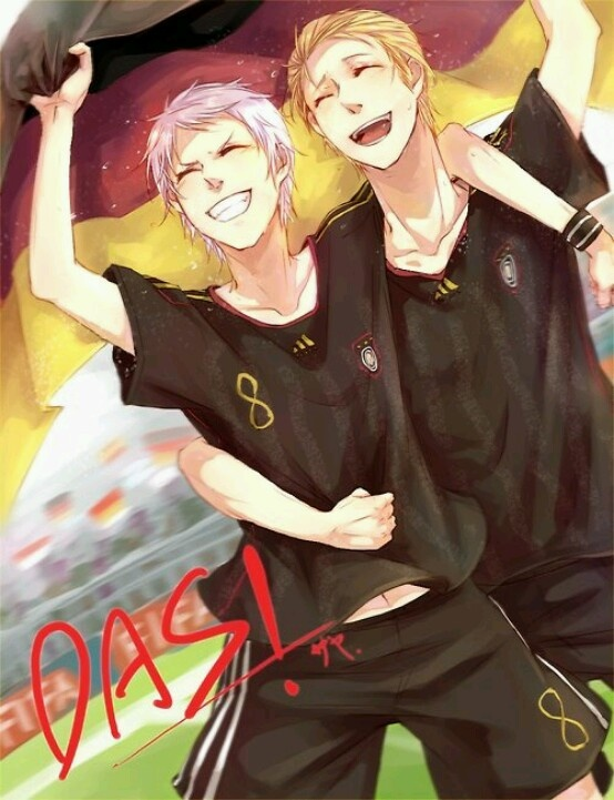 Prussia and Germany at Fifa World Cup. I was so happy when they won!!