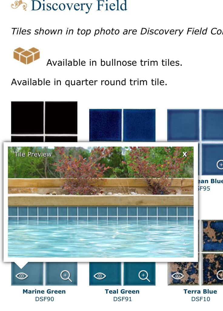Pelican pool waterline tile