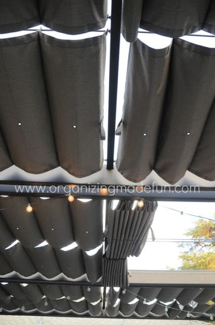 82 best retractable shade images on pinterest arbors for Outdoor curtain drain