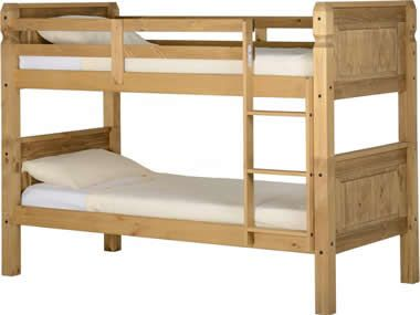 Corona 3ft Bunk Bed In Distressed Waxed Pine