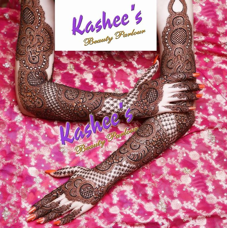 Beautiful and gorgeous bridal mehndi design by kashee 's beauty parlour