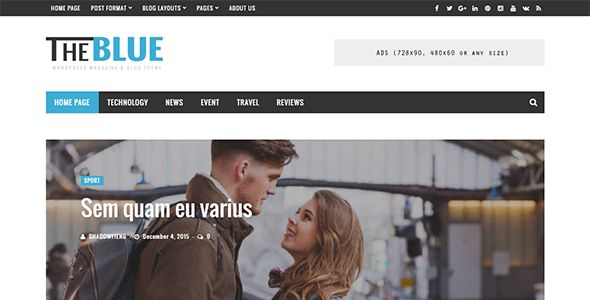 Ad: The Blue - Responsive WordPress Magazine and Blog Theme - News / Editorial Blog / Magazine 49$